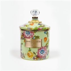 MacKenzie-Childs Flower Market Small Canister Green