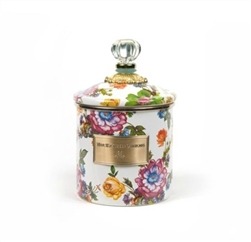 MacKenzie-Childs Flower Market Small Canister White