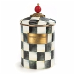 MacKenzie-Childs Enamelware Courtly Check Medium Canister