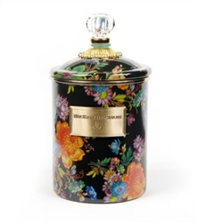 MacKenzie-Childs Flower Market Medium Canister Black