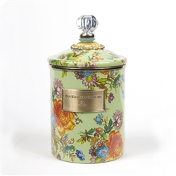 MacKenzie-Childs Flower Market Medium Canister Green