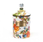 MacKenzie-Childs Flower Market Medium Canister White