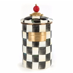 MacKenzie-Childs Enamelware Courtly Check Large Canister