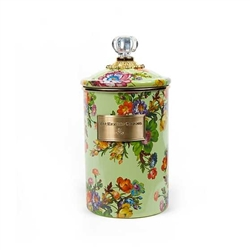 MacKenzie-Childs Flower Market Large Canister Green