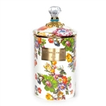 MacKenzie-Childs Flower Market Large Canister White