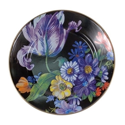 Mackenzie-Childs Flower Market Dinner Plate Black