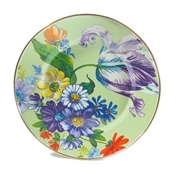 Mackenzie-Childs Flower Market Dinner Plate Green