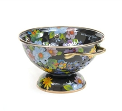 MacKenzie-Childs Flower Market Small Colander Black