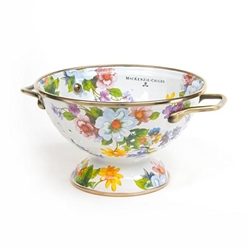 MacKenzie-Childs Flower Market Small Colander White