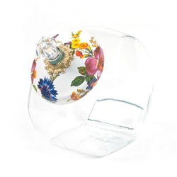 MacKenzie-Childs Flower Market Cookie Jar White