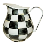 MacKenzie-Childs Enamelware Courtly Check Pitcher