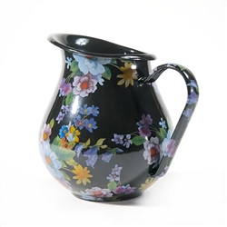MacKenzie-Childs Flower Market Pitcher Black