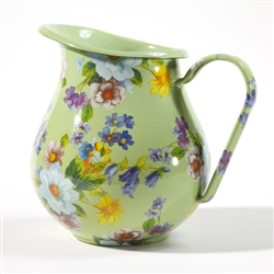 MacKenzie-Childs Flower Market Pitcher Green