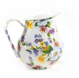MacKenzie-Childs Flower Market Pitcher White