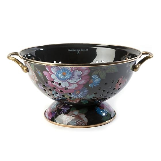 MacKenzie-Childs Flower Market Large Colander Black