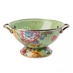 MacKenzie-Childs Flower Market Large Colander Green