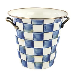 MacKenzie-Childs Enamelware Royal Check Wine Cooler