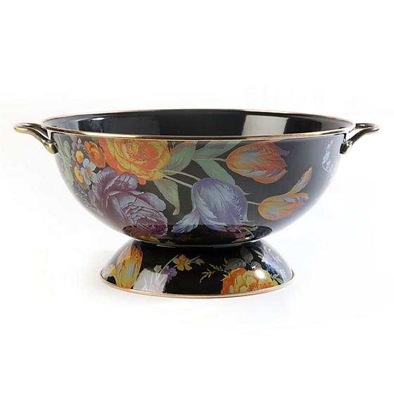 MacKenzie-Childs Flower Market Large Everything Bowl - Black