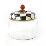 MacKenzie-Childs Courtly Check Glass Kitchen Canister Small