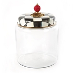 MacKenzie-Childs Large Courtly Check Glass Kitchen Canister Large