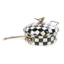 Mackenzie-Childs Courtly Check Enamel 3 Qt. Sauce Pan