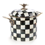 Mackenzie-Childs Courtly Check Enamel 7 Qt. Stockpot