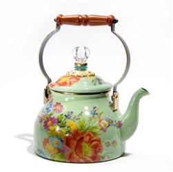 Mackenzie-Childs Flower Market 2 Qt Tea Kettle Green