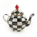 MacKenzie-Childs Courtly Check Enamel Teapot 4 Cup