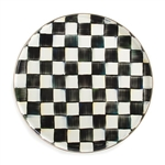 MacKenzie-Childs Courtly Check Enamel Round Tray