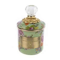 Mackenzie-Childs Flower Market Mini Canister - green