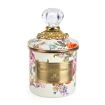 Mackenzie-Childs Flower Market Mini Canister - White