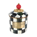 Mackenzie-Childs Courtly Check Enamel Canister - Demi