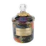 Mackenzie-Childs Flower Market Demi Canister - Black