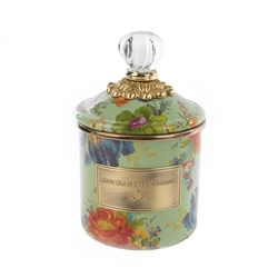 Mackenzie-Childs Flower Market Demi Canister - green