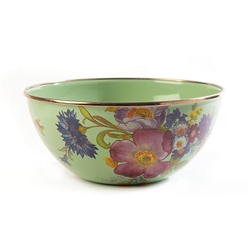 Mackenzie-Childs Flower Market Everyday Bowl - Green