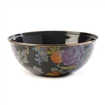 Mackenzie-Childs Flower Market Everyday Bowl Medium  - Black