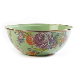 Mackenzie-Childs Flower Market Everyday Bowl Medium - Green