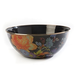 Mackenzie-Childs Flower Market Everyday Large Bowl - Black