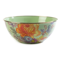 Mackenzie-Childs Flower Market Everyday Bowl Large - Green