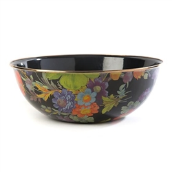 Mackenzie-Childs Flower Market Everyday Extra Large Bowl - Black