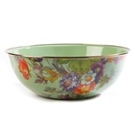 Mackenzie-Childs Flower Market Everyday Bowl Extra Large - Green