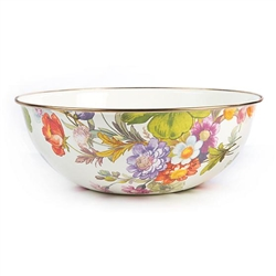 Mackenzie-Childs Flower Market Everyday Bowl Extra Large - White