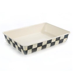 MacKenzie-Childs Courtly Check 9 in. X 13 in. Enamel Baking Pan
