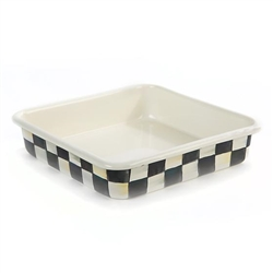 MacKenzie-Childs Courtly Check 8 Inch Enamel Baking Pan
