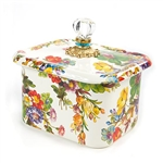 MacKenzie-Childs Flower Market Recipe Box - White