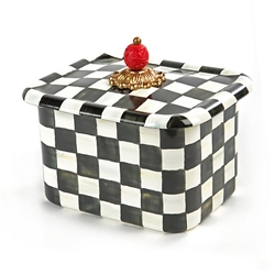 MacKenzie-Childs Courtly Check Enamel Recipe Box