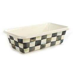 Mackenzie-Childs Courtly Check Enamel Loaf Pan