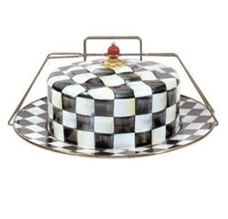 MacKenzie-Childs Enamelware Courtly Check Cake Carrier