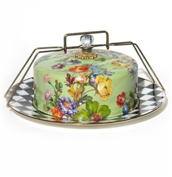 Mackenzie-Childs Flower Market Cake Carrier Green