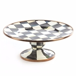 MacKenzie-Childs Courtly Check Mini Pedestal Platter